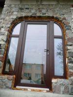 drzwi frontowe szklane